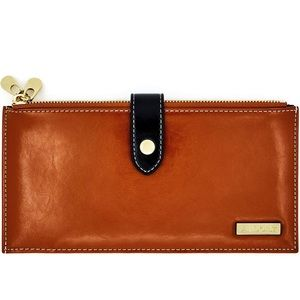 Handbags - NWT Cognac wallet with tons of card holders